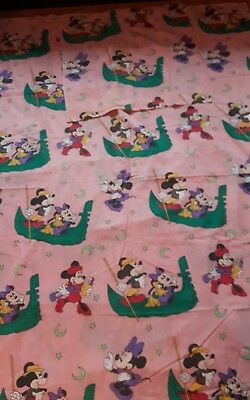 Disney Mickey & Minnie in Paris Urlaub Bettwäsche bedding stoff fabric vintage