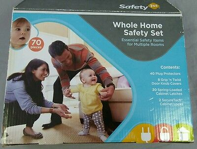 Safety 1st Whole Home Safety Set Plug Protectors Cabinet Latches Knob Cover 70