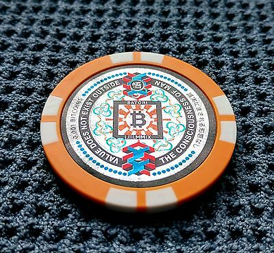 SATORI Physical Bitcoin Chip/Wallet Funded 0.001 BTC & BCH like Casascius Coin