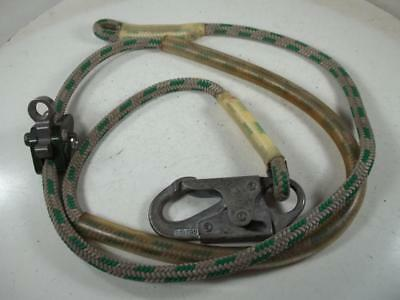 8 Ft Buckingham Buck-A-Juster Utility Flipline Climbing Safety Secondary Lanyard