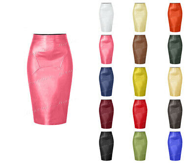 94e70273d4 Genuine Leather Sexy Lady Calf Length Pencil Skirt Office Lady Club Skirt  #S32