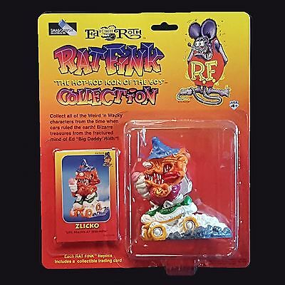 ZLICKO Ed Roth Rat Fink Hot Rod Weird-oh Monster Figure - Shadowbox Collectibles