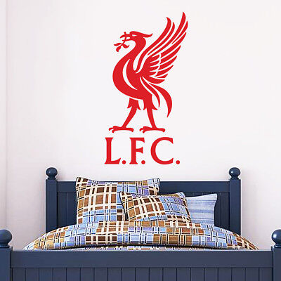 Official Liverpool Football Club Liver Bird Crest Wall Sticker + LFC Decal Set