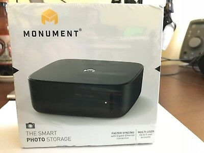 MONUMENT Labs Smart Photo Storage Management device WiFi Gigabit Ethernet - NEW