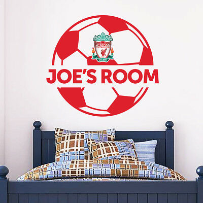 Liverpool Football Club Personalised Name & Ball Wall Sticker + LFC Decal Set