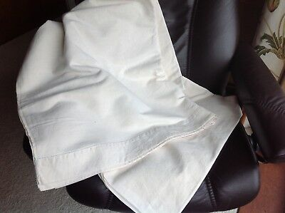 """French Metis Hemstitched Cream Linen sheet 88""""x120"""""""