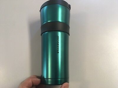 Starbucks Max Green Stainless Steel Tumbler 16oz New 2016