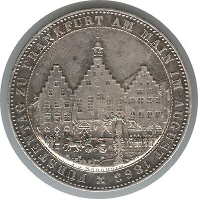 Frankfort Am Main 1863 1 Thaler Assembly Of Princes Km372