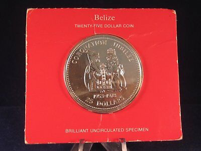 Belize 1978 silver $25 Brilliant Uncirculated Coin