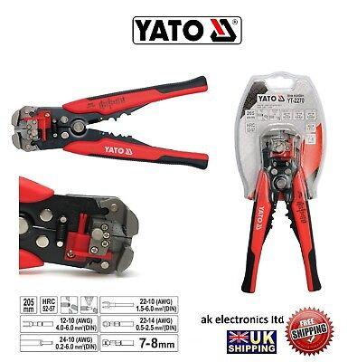 Yato Professional Automatic Electrical Cable Wire Stripper Cutter Crimper yt2270