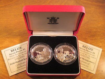 Belize 1992 Two Coin Silver Proof Set