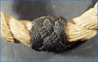 Pair Sailor Made Nautical Rope Beckets With Turks Head Knots