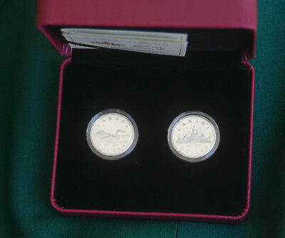 2017 CANADA EMPTY CASE (no coins) for Two loonies (30th anniversary) coin set