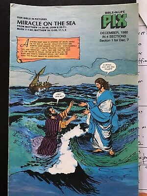 December 7, 1980  BIBLE IN LIFE PIX -- Miracle on the Sea -- Free Shipping in US