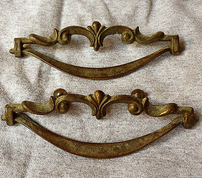 3 Pairs available Vintage Old Cast Metal Drawer Cabinet Furniture Pull Handle