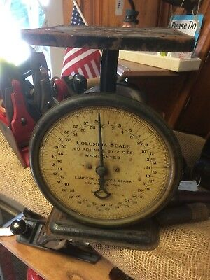 Vintage Columbia Family Scale 60 pounds by 2 oz
