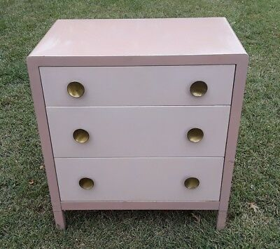 Norman Bel Geddes Art Deco Metal Dresser From Simmons Furniture