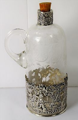 "1874 to 1926-Germany Detailed .800 Silver Bottle by ""Storck & Sinsheimer Hanau"""