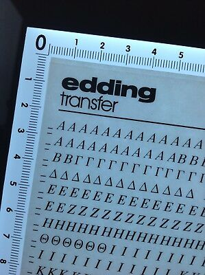 NEW EDDING TRANSFER SHEET (6712)+ New Bonus LETRASET Sheet Free