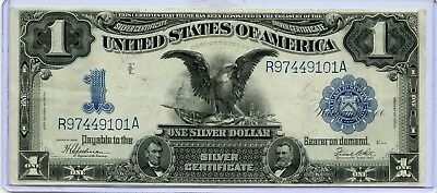 Fr. 236 1899 $1 Large Size Silver Certificate (( BLACK EAGLE NOTE )) VF-XF