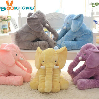 BOOKFONG 40cm New Fashion Animals toys Stuffed Soft Elephant Pillow Baby Sleep