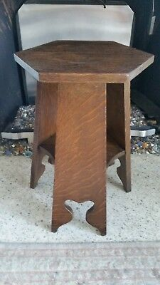 Antique Vintage Mission Arts/Crafts Tabouret Stand Flower Stool Fern Shelf Table