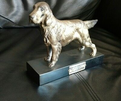 1939 second prize trophy Wilbraham fish and game club New England gun-dog stake