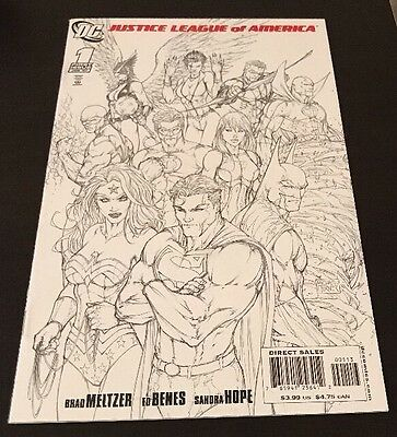Justice League Of America #1 Michael Turner B&w Sketch Variant