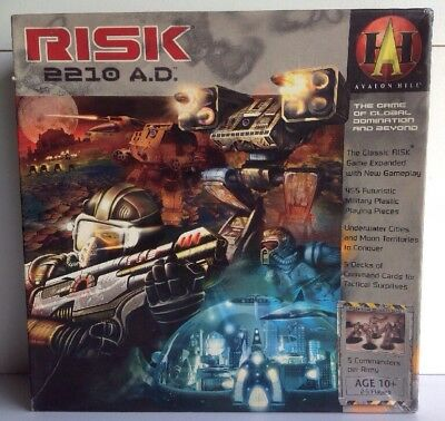 Avalon Hill RISK 2210 A.D. AD THE game Of Global Domination And Beyond Board