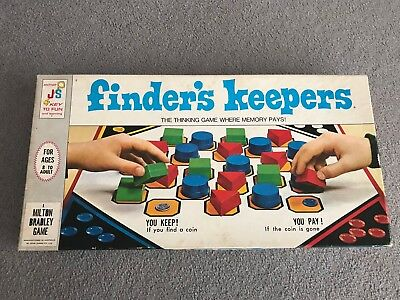 Vintage Retro Rare 1969 Finder's Keepers Board Game By John Sands VGC