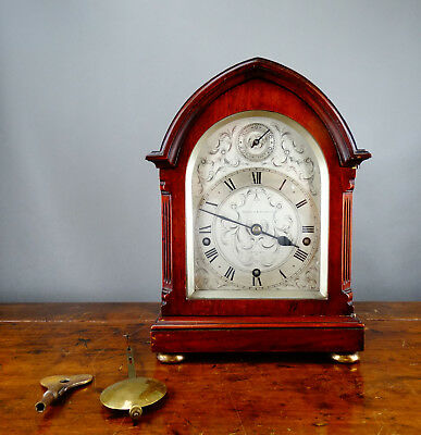 Antique Bracket Mantel Clock Westminster Quarter Strike JJ Elliott Mappin & Webb