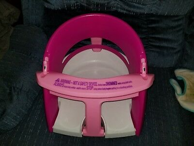 Dream baby Infant Pink Bath Seat FOLDS Chair Tub Ring