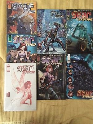 Lot of 7 Gear Station comic books 1A, 1B, 1C, 2, 3, 4, 5 from Image Comics