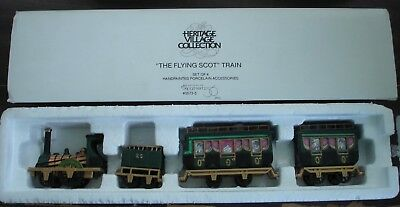 Dept. 56 The Flying Scot Train w/Box - Heritage Village -- 4 pc. -#5573-5