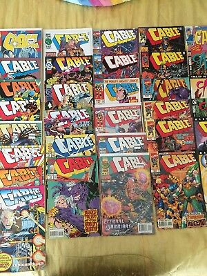 Huge Lot of 32 Cable Comic Books from Marvel Comics X-Men New Deadpool Movie