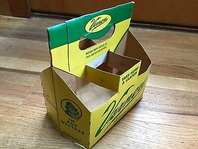 Vintage Vernor's Ginger Ale paper six pack bottle carrier 8 oz size