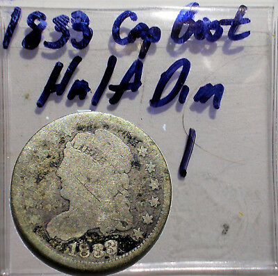 1833 CAPPED BUST HALF DIME Lot. #23