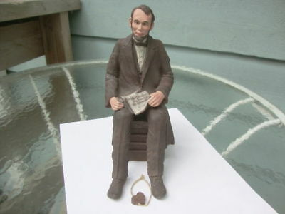 Vintage Abraham Lincoln Sitting Gettysburg Address Collectible Sarah's Attic!