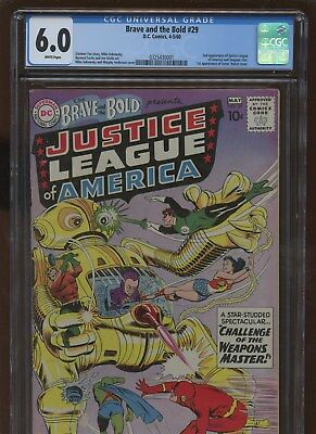 Brave and the Bold 29 CGC 6.0 FN | DC 1960 | 2nd Justice League Of America