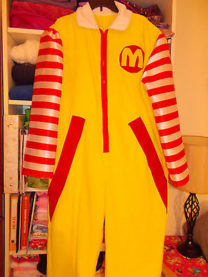 Ronald McDonald Costume Adult Cosplay Complete with Wig & Shoe Covers XL