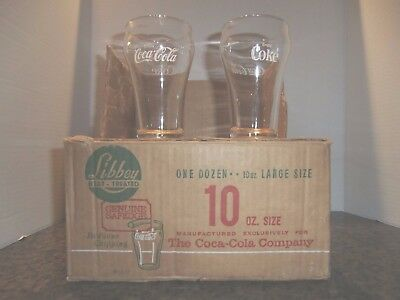 12  Vintage 1970  Coca Cola  Bell Top  Drinking  Glasses