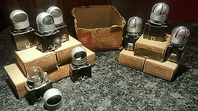 VINTAGE LOT OF 10 PASS & SEYMOUR PILOT LIGHT - P/N:1340 & 1339 Night light in OB