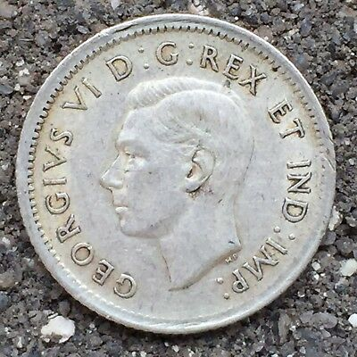 Canada 10 Cents 1939, George VI - VF, Lower Year, Silver