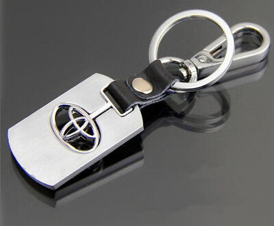 Keyring Key Rings Key Chain Toyota Metal Chrome Stainless Steel Polished #2