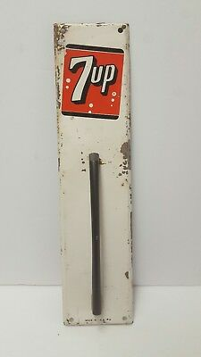 Vintage 7up Door Pull Push Sign Handle Country Store Soda