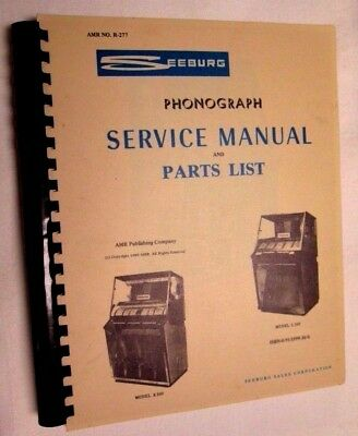 SEEBURG SERVICE MANUAL & PARTS LIST Select-o-Matic 100 200 K 200 L 100 Jukebox
