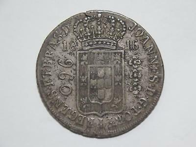 Brazil 1816 R 960 Reis Struck Over Spain 8 Reales Ex:kurt Prober Coin Collection