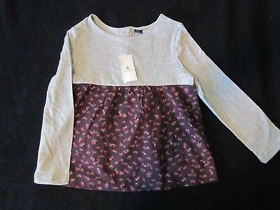 Baby Gap Girl Floral Mix-Fabric Top Shirt Nwt 4T