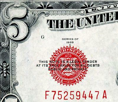 HGR 1928C $5 RED Seal ((GORGEOUS)) Appears GEM UNCIRCULATED