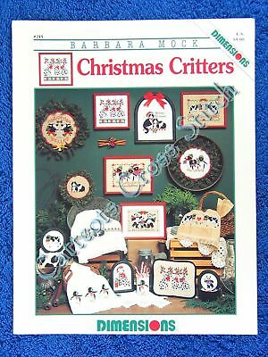 Cross Stitch Pattern Christmas Critters Designs Cats Cows Dogs Penguins Pandas